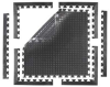 Bubble Mat Tiles Industrial Mats - Corner -- 853C2020 - Image