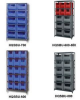 SHELVING UNIT WITH STACKABLE STORAGE BINS -- HQSBU-600800