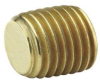Countersunk Hex Head Plug,1/8 In,Brass -- 13Y812 - Image