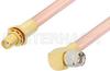 SMA Male Right Angle to SMA Female Bulkhead Cable 18 Inch Length Using RG401 Coax -- PE34315-18 -Image