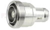 7/16 DIN Female (Jack) to N Female (Jack) Adapter IP67 UnMated, Tri-Metal Plated Brass Body, 1.25 VSWR -- SM4473 - Image