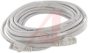 Cable, Patch; 25 ft.; 24 AWG; Unshielded Twisted Pair; Booted; White; UL Listed -- 70081263 - Image
