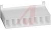Connector; Nylon; Receptacle; 8; White;Crimp; 180 deg; 0.1 in.; UL 94V-0 -- 70083804