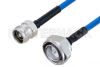 Plenum 4.3-10 Female to 7/16 DIN Male Low PIM Cable 36 Inch Length Using SPP-250-LLPL Coax , LF Solder -- PE3C5836-36 -Image
