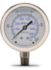0-1000 psi Liquid filled Pressure Gauge with 2.5 inch mechanical dial -- G25-SL1000-4LS - Image