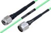 Temperature Conditioned TNC Male to N Male Low Loss Cable 8 Inch Length Using PE-P160LL Coax -- PE3M0207-8 -Image