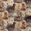 Duck Hunting Dog Tapestry Fabric -- RH-La Chasse -- View Larger Image