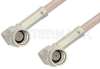 SSMA Male Right Angle to SSMA Male Right Angle Cable 24 Inch Length Using RG316 Coax -- PE36574-24 -- View Larger Image