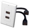 HDMI DUAL FEEDTHRU WALL PLATE WHITE -- 60-10609 -Image