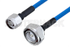 Plenum N Male to 7/16 DIN Male Low PIM Cable 24 Inch Length Using SPP-250-LLPL Coax , LF Solder -- PE3C4132-24 -Image