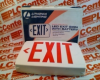 EXIT SIGN LED RED W/BATTERY EXTRA FACE PLATE -- LQMSW3R120277ELN