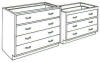 Standard Steel Laboratory Cabinet, All Drawer Unit -- 040 Series - Image
