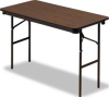 ECONOMY WOOD LAMINATE FOLDING TABLE, RECTANGULAR, 48W X 24D, WALNUT -- 10121481