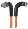 Category 6 Right Angle Patch Cable, RA Right Exit/Right Angle Up- Orange 5.0 ft -- TRD695RA12OR-5 -Image