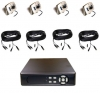 4 Indoor IR Camera Package With DVR
