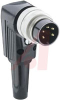 12 Contact, IP40, Male Right Angle Circular Connector with Flush Lock Ring -- 70151329 - Image