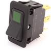 EATON EURO-SR Rocker Switch, DPST, On-Off, One Green, 8007K43N313V32 -- 43113 - Image