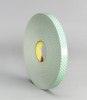 3M 4032 Off-White Foam Mounting Tape - 1 in Width x 72 yd Length - 1/32 in Thick - 06458 -- 021200-06458 -- View Larger Image