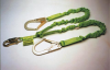 Manyard II Stretchable Shock-Absorbing Lanyards - twin-leg, snap hook & rebar hooks, ANSI A10.32 compliant > UOM - Each -- 231M/6FTGN -- View Larger Image