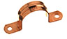 Wrot Copper Tube Strap - Double Hole -- 32426