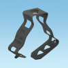 Supports and Fasteners : Cable/Conduit : Snap-Close Conduit Clips -- P812M4I