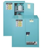 Justrite Chemcor 30 gal Blue Hazardous Material Storage Cabinet - 43 in Width - 44 in Height - 697841-11346 -- 697841-11346