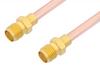SMA Female to SMA Female Cable 24 Inch Length Using RG402 Coax -- PE3931-24 -Image