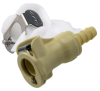 PMC Series Acetal Shut-Off In Line Hose Barb Fitting 1/8
