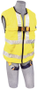 DBI-SALA Delta Vest Yellow XL Full Vest Body Harness - Polyester Webbing - 840779-01007 -- 840779-01007