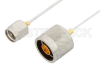 SMA Male to N Male Cable 6 Inch Length Using PE-SR047FL Coax, RoHS -- PE34268LF-6 -Image
