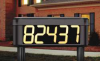 Solar Lighted House Number Sign -- 2KFN4