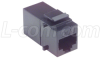 Cat6 Coupler - Unshielded RJ45 (8x8) Keystone Feed-thru -- TDG1026KC6 -- View Larger Image