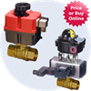 Lead Free Brass Automated Ball Valves -- 250 LF Series - Image