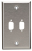Stainless Steel Wallplate, DB9, Single-Width, 2-Punch -- WP071