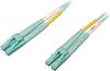 10 Gb/100 Gb Duplex Multimode 50/125 OM4 LSZH Fiber Patch Cable (LC/LC), Aqua, 25 m (82 ft.) -- N820-25M-OM4