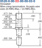 Wire Termination Pin -- 0520-0-00-01-00-00-03-0