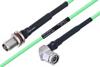 Temperature Conditioned TNC Female Bulkhead to TNC Male Right Angle Low Loss Cable 36 Inch Length Using PE-P160LL Coax -- PE3M0211-36 -Image
