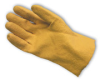 Textured Vinyl Coated, Jersey Lined, Slip-On, Yellow, Small -- 616314-04766