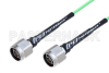 N Male to N Male Low Loss Cable 24 Inch Length Using PE-P160LL Coax -- PE3C5255-24 -Image