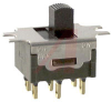 Switch, Slide, SubMiniature, PANEL MOUNTING W/ Solder LUG TerminalS,DPDT -- 70192882