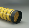 Two Single-Ply Yellow PVC Vinyl Coated Polyester Fabric Plies Hose -- Springflex® Arctic Duct 3 18.0