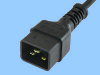 16A IEC 60320 Sheet I Power Cord -- 86262020 - Image