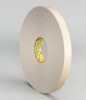 3M 4492W White Foam Mounting Tape - 6 in Width x 72 yd Length - 1/32 in Thick - 71244 -- 051115-71244 -- View Larger Image