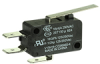 MICRO SWITCH V15 Series Standard Basic Switch, 16 A, straight lever, 6,35 mm x 0,80 mm quick connect terminals, SPDT, 300 gf [2,94 N] -- V15H16-CZ300A02-K -Image