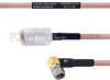 N Female to RA SMA Male MIL-DTL-17 Cable M17/60-RG142 Coax in 12 Inch -- FMHR0018-12 -Image