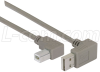 Right Angle USB Cable, Down Angle A Male/ Left Angle B Male, 0.3m -- CA90DA-90LB-03M - Image