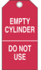 Cylinder Status Tags (B-851; Economy Polyester; EMPTY CYLINDER) -- 754476-17924