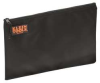 Nylon Zipper Storage Bag,Black,17 x12 In -- 9LLA7
