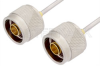 N Male to N Male Cable 18 Inch Length Using PE-SR405AL Coax -- PE34140LF-18 -Image