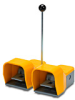 On-Off Foot Switch: double plastic pedal with yellow metal guards -- APD1114-V0-M